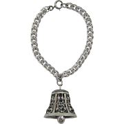 Sterling Silver Bracelet with Guglielmo Cini Sterling Silver Bell