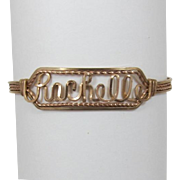 "Vintage Wire Wrapped Name Bracelet - ""Rachelle"""