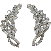 Sparkling Clear Rhinestone Earrings for the Holidays