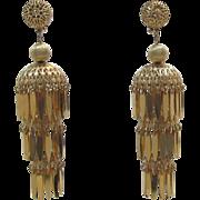 Fab Monet Three Tier Chandelier Earrings