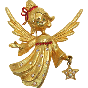 MYLU Christmas Angel Brooch
