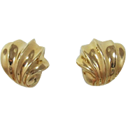 Nordstrom's Bright Gold-tone Fluted Shell Earrings