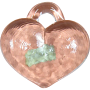 Kosta Boda Large Heart Pendant or Paperweight