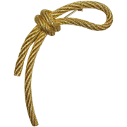 Christian Dior Knotted Bow Brooch