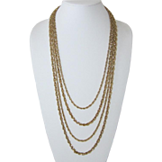 Trifari Four Rope Chain Necklace