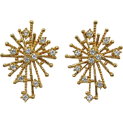 Avon Spiky Starburst Post/Pierced Earrings