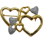 Seven Hearts Brooch for Valentine's Day