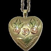 Pretty 14 Karat Gold-Filled Heart Locket Necklace