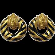 """Elizabeth Taylor for Avon """"Zebra Stripe"""" Earrings"""