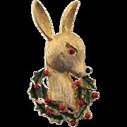 Christmas Reindeer Figural Pin