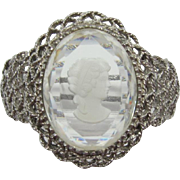 Dramatic DeLizza and Elster - Juliana Large Cameo Hinged Bracelet