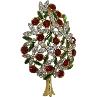 Gorgeous and Opulent Sphinx Christmas Tree Pin - Book Piece