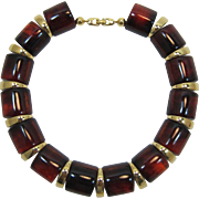 Napier Tortoiseshell Thermoplastic Link Necklace