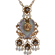 Kirk's Folly Angel with Wings Pendant Necklace