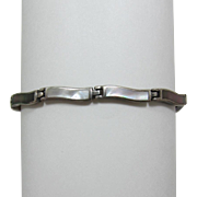 """Sterling Silver and Mother-of-Pearl """"Wave"""" Bracelet"""