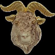 Razza Capricorn Goat Zodiac Brooch