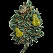 Benedikt N. Y. Partridge in a Pear Tree Christmas Pin - Book Piece