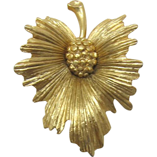 Monet Gold-tone Pine Cone Brooch