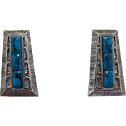 Whiting & Davis Native American Style Earrings