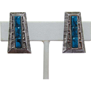Whiting & Davis Native American Style Earrings