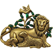 Danecraft Lion and the Lamb Brooch for Easter