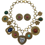 DeLizza and Elster Gold-tone Necklace and Earring Set - Frank DeLizza's Archives - Book Piece