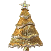 Elegant Liz Claiborne Christmas Tree Pin