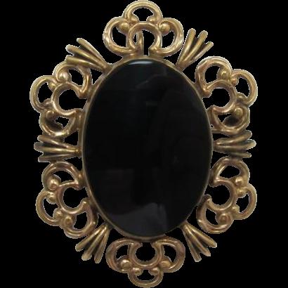 Beautiful Winard Gold-Filled and Onyx Pin