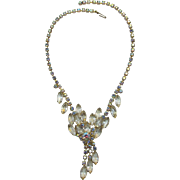 DeLizza and Elster Juliana Clear Rhinestone Dangling Necklace