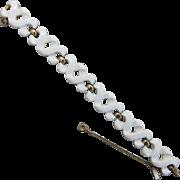 Monet White Modernist Bracelet