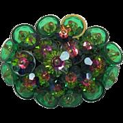 Green Watermelon Cluster Brooch