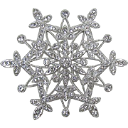 Elegant and Sparkling Clear Rhinestone Spikey Brooch