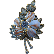DeLizza and Elster Juliana Blue Aventurine Brooch - Hard to Find
