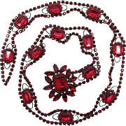 DeLizza and Elster aka Juliana Pink and Red Rhinestone Belt - Frank DeLizza's Archives