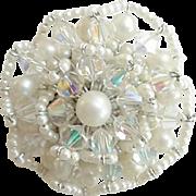 Vendome Ruffled Pearl Brooch