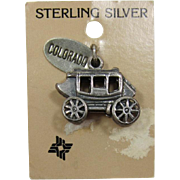 Realistic Looking Sterling Silver Stage Coach Charm