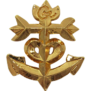 Fab Christian Lacroix Anchor and Heart Logo Brooch