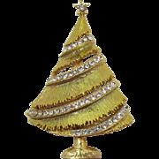 Weiss Light Iridescent Green Christmas Tree Brooch
