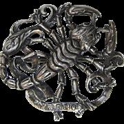 Gorgeous Gugliemo Cini Sterling Silver Scorpio Zodiac Pin