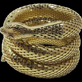 Whiting & Davis Three Coil Gold-tone Snake Bracelet - Hsssss!