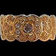 Swarovski Swan Mark Bright Gold-tone Hinged Bracelet