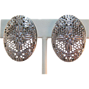 Whiting & Davis Silver-tone Bright Silver-tone Earrings