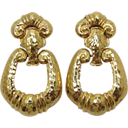 Dramatic Jose and Maria Barrera for Avon Corinthian Doorknocker Earrings