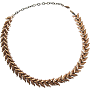 "Renoir ""Wheat"" Pattern Copper Necklace - Book Piece"
