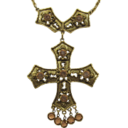 Goldette Renaissance Style Cross Necklace