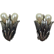 Botticelli Silver-Plated Earrings with Faux Pearls