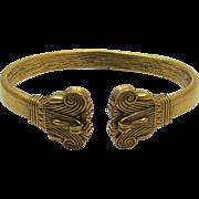 Dramatic HMR CMA Etruscan Gold-tone Bracelet