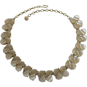 1950's Tan Moonglow Thermoplastic Link Necklace