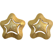 Bright Gold-tone Star Earrings
