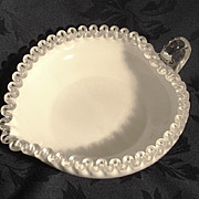 Clearance Fenton Silvercrest Heart Shaped Bowl